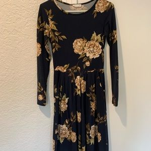 Reborn J Floral Midi Dress With Pockets